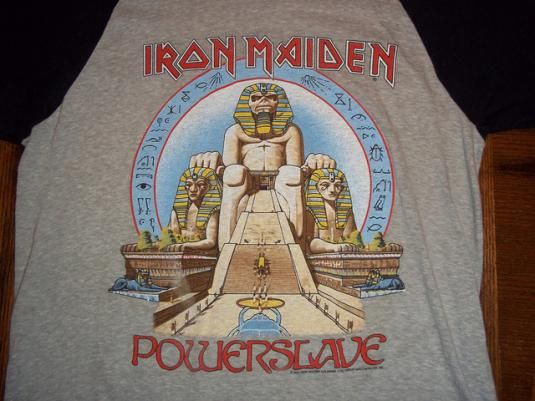 cb745d06 Vintage 1985 Iron Maiden Power Slave concert t-shirt. | T shirt in ...
