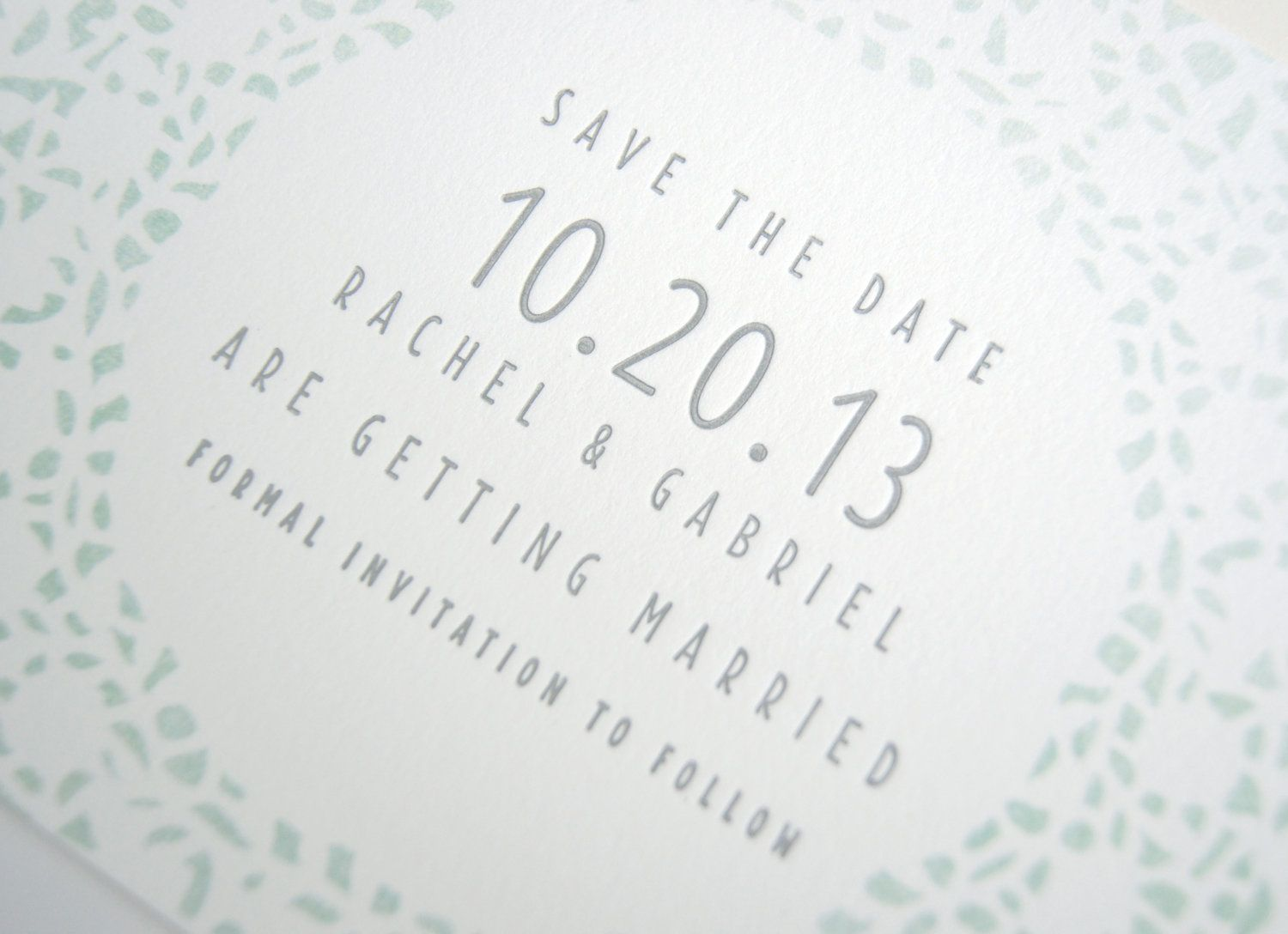 Lace Letterpress Amp Watercolor Wedding Save The Date