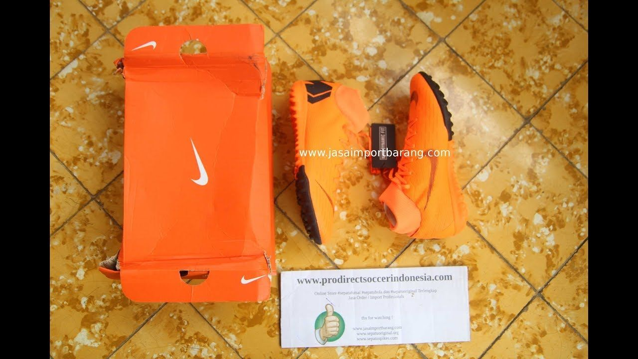 Sepatu Futsal Nike Superflyx 6 Academy Tf Total Orange Ah7370 810 Import Original Originals