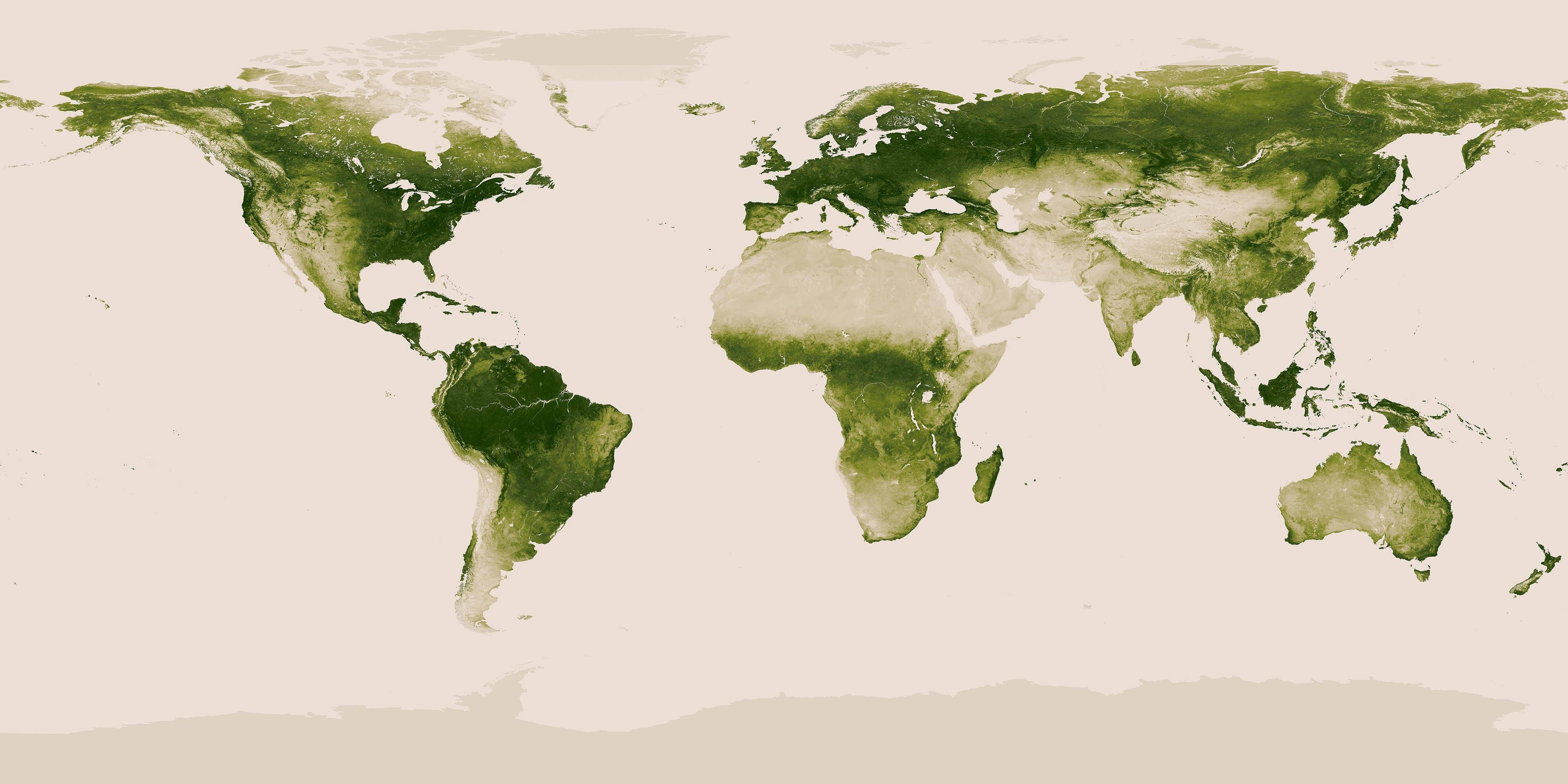 Earths Map%0A A map of Earth u    s vegetation        u   c Using the NASA NOAA Suomi NPP  satellite  scientists can now detect subtle differences in greenness on the     percent of