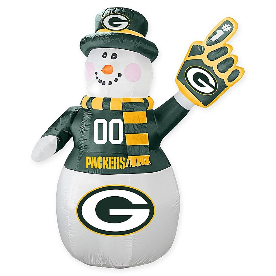 Nfl Green Bay Packers Inflatable Snowman Multi Nfl Green Bay Green Bay Packers Green Bay