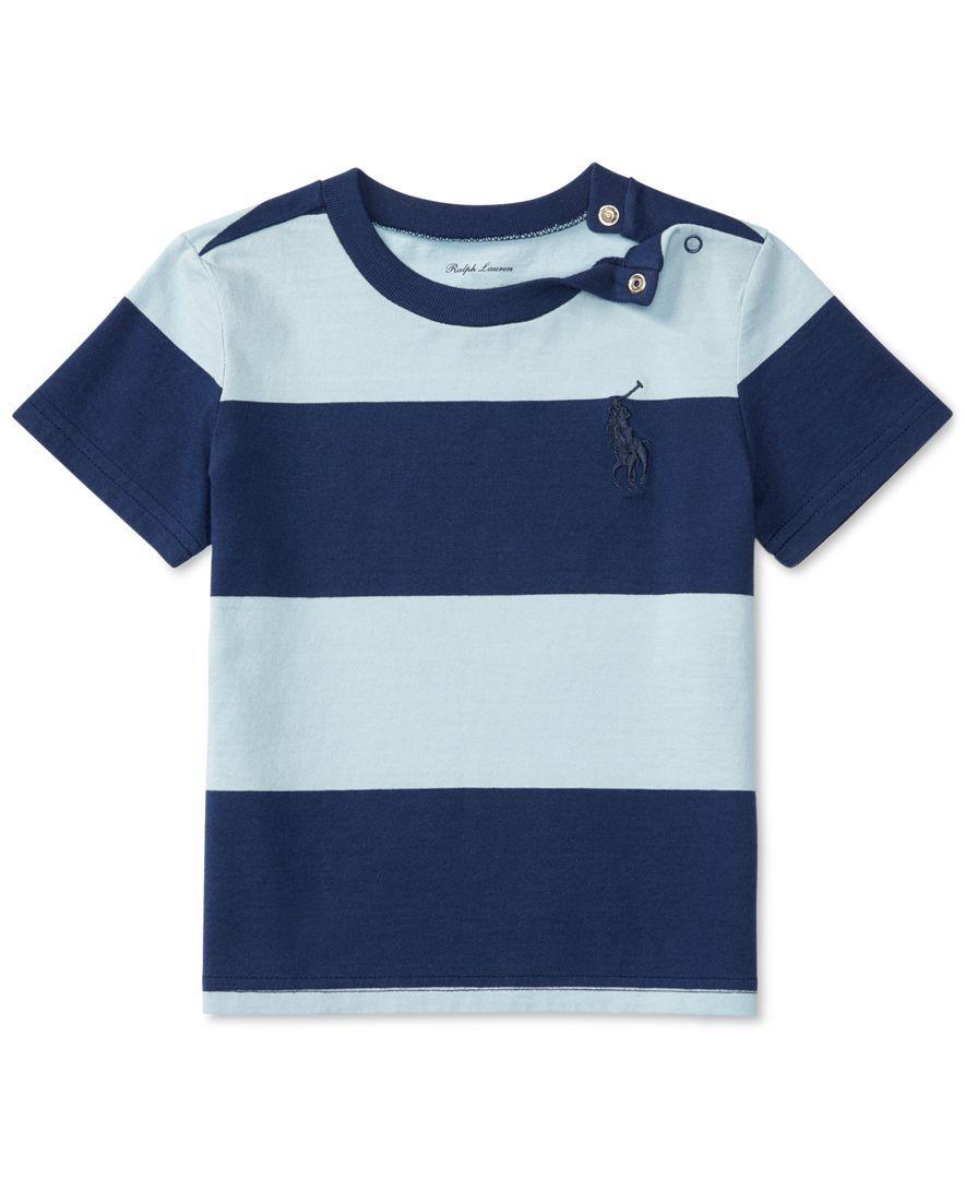 bf84a2be Ralph Lauren Striped Cotton T-Shirt, Baby Boys (0-24 months ...