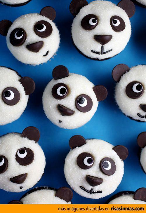Cupcakes originales: Pandas.