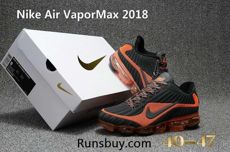 Nike Air VaporMax 2018.5 KPU Carbon Gray Orange Men, 2019