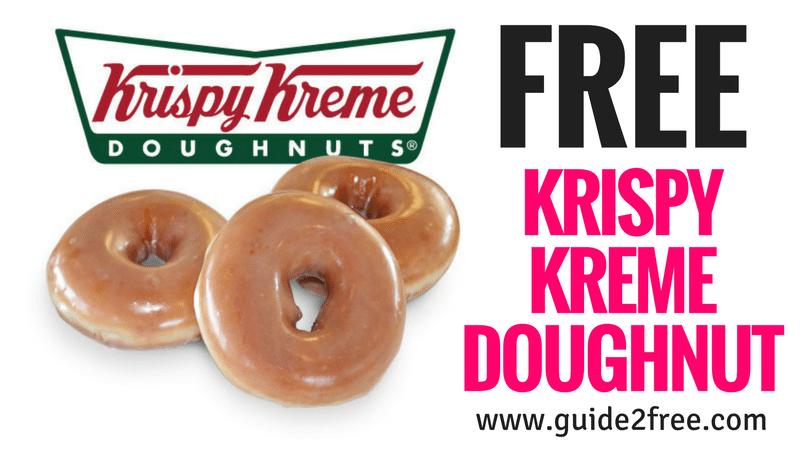 Free Krispy Kreme Doughnut Krispy Kreme Doughnut Krispy Kreme