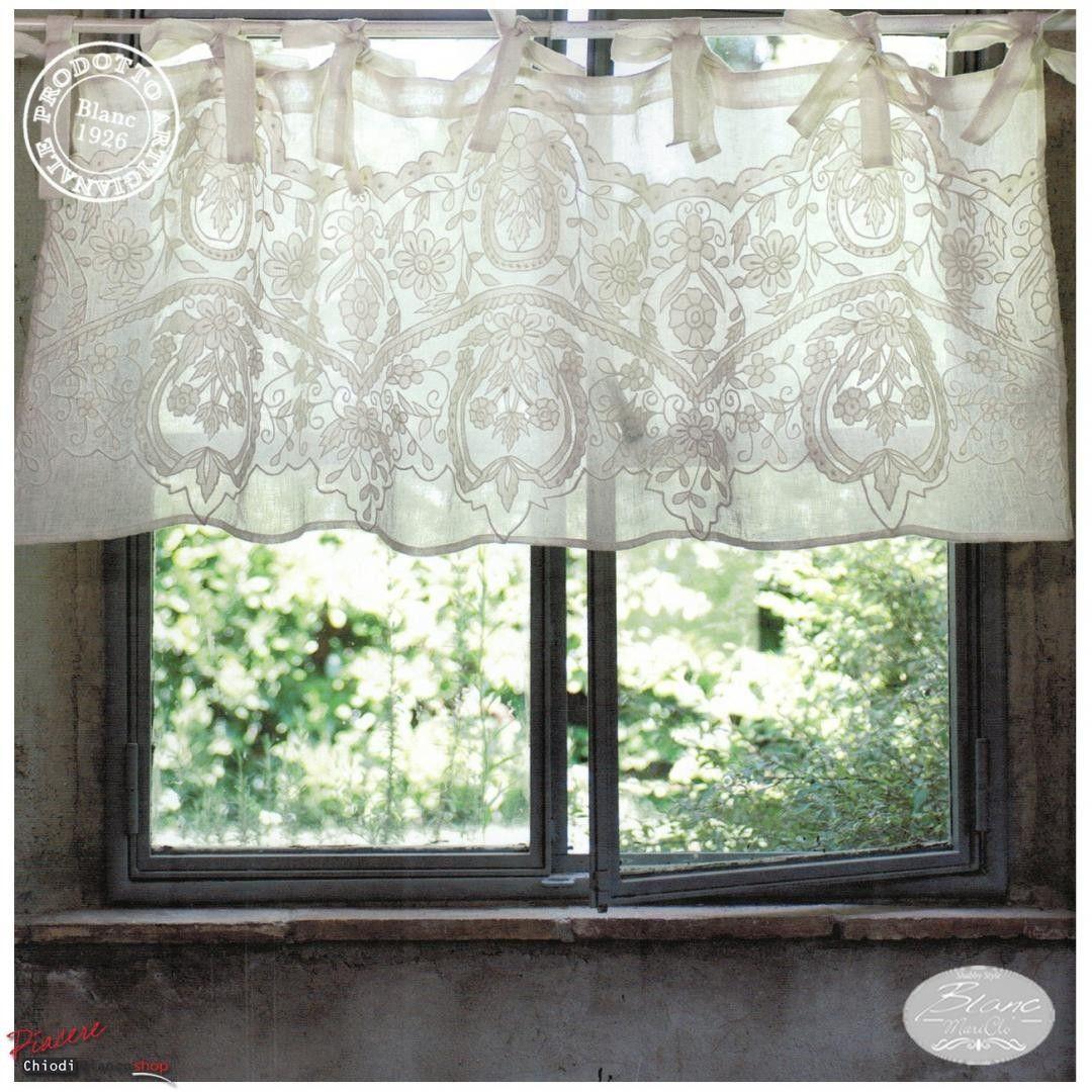 Mantovana shabby chic blanc maricl in lino e cotone - Decoration shabby en ligne ...