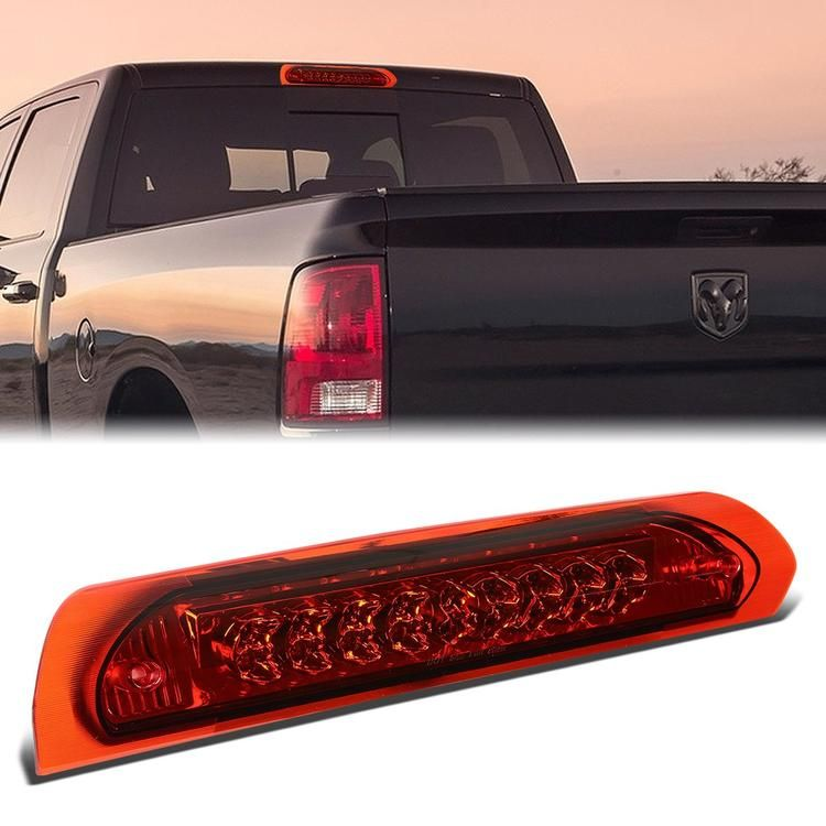 02 09 Dodge Ram 1500 2500 3500 Led Third 3rd Tail Brake Light Cargo Lamp Red Lens Dodge Ram Dodge Ram 1500 Ram 1500