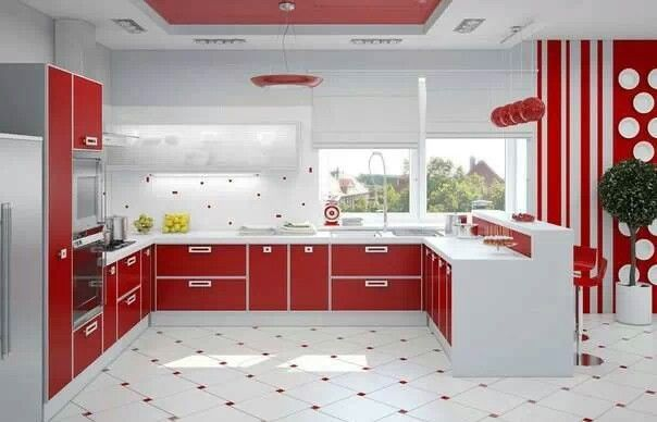 Cocina roja cocinas Pinterest Kitchens and House