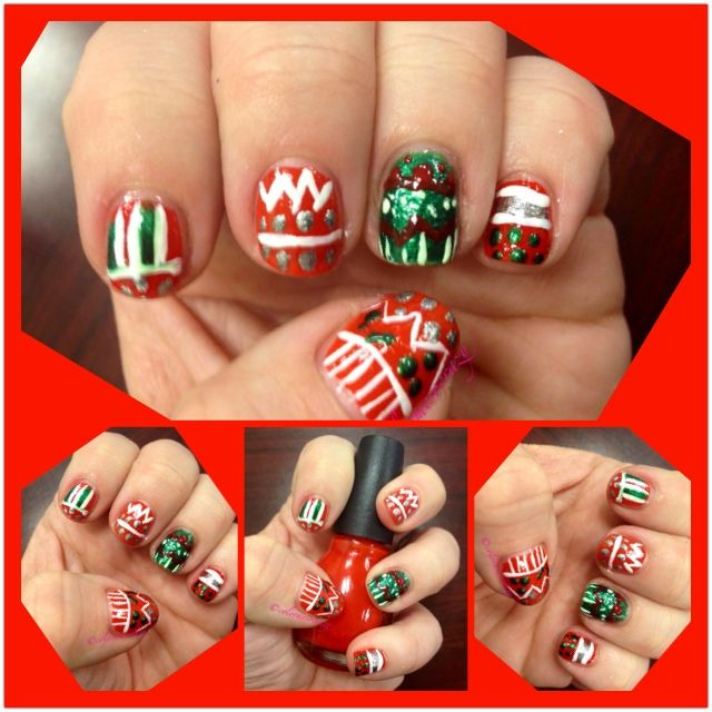 Christmas Nail Art Designs Arts Locations For Dothan Pinterest