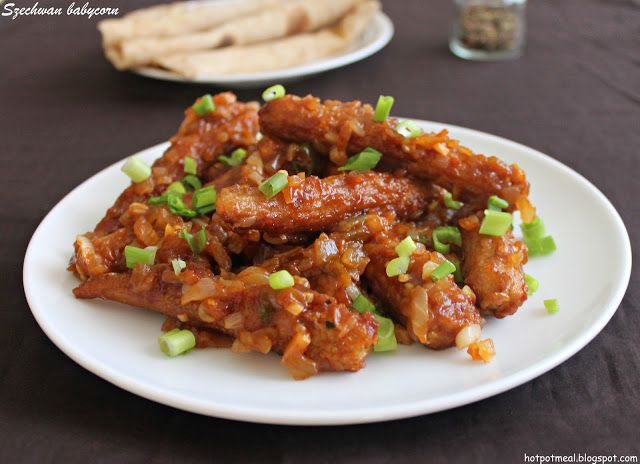 Szechwan baby corn food vegan pinterest indo chinese recipes great recipe for baby corn manchurian my favourite side dish for rice and roti forumfinder Choice Image