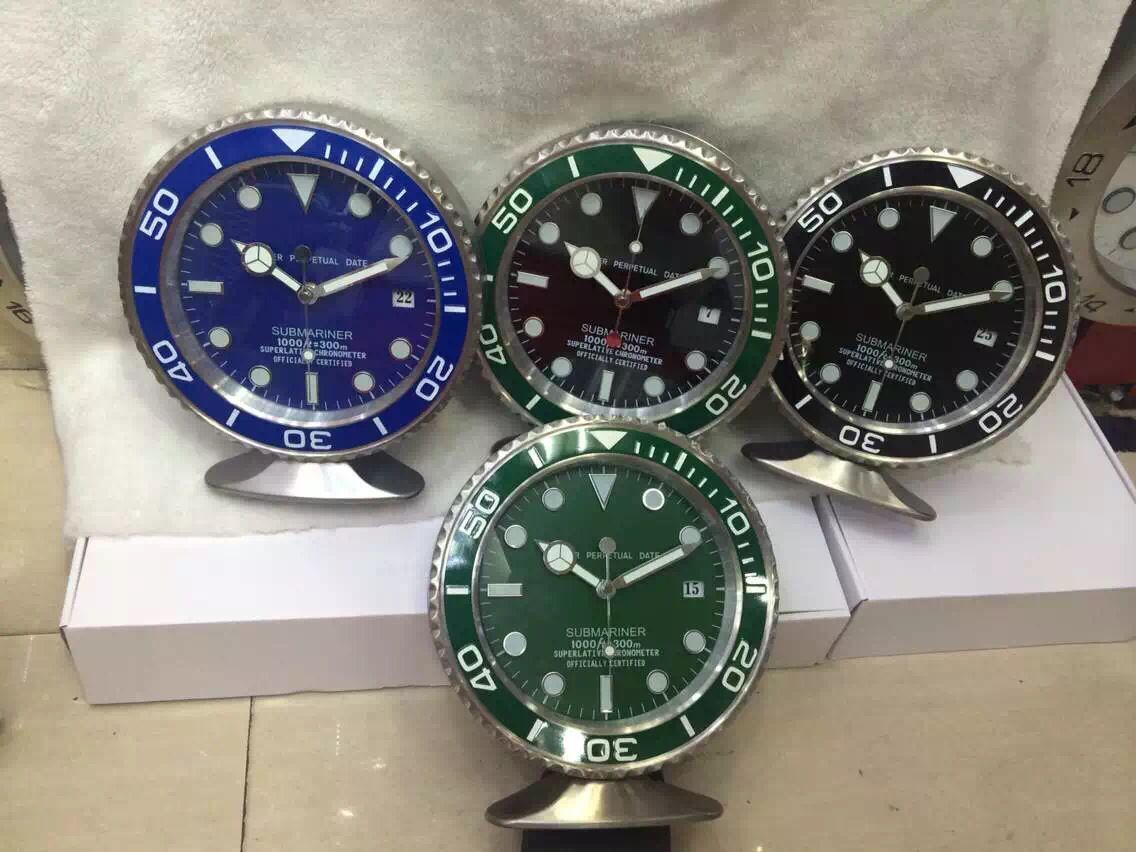 2015 new model 2528cm rolex submariner table clock can use be a 2015 new model 2528cm rolex submariner table clock can use be a wall amipublicfo Image collections
