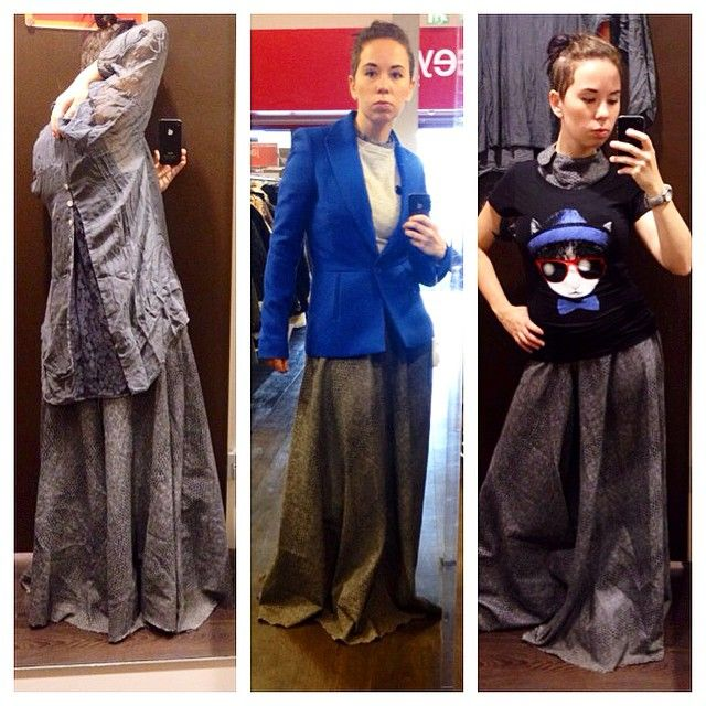 Shirts and blazer rejects, oh my #shopping #ootd #gown #undercut #nomakeup #WhatLLworeToday
