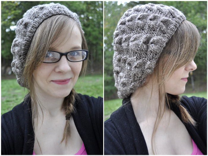 Viveca Slouch Hat Free Knitting Pattern Knitting Projects