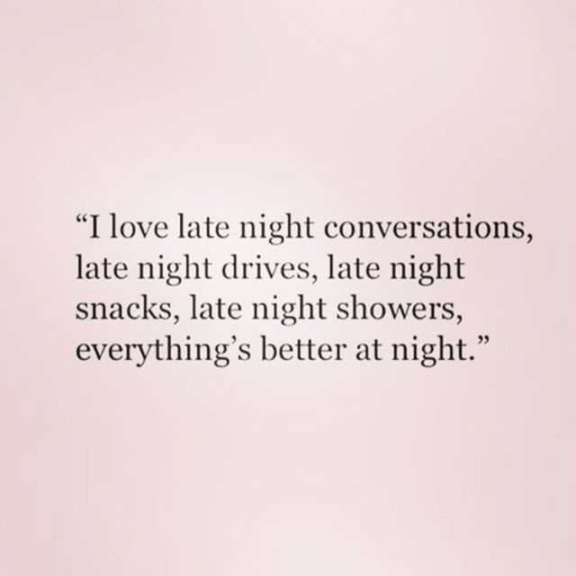late night conversations with your crush