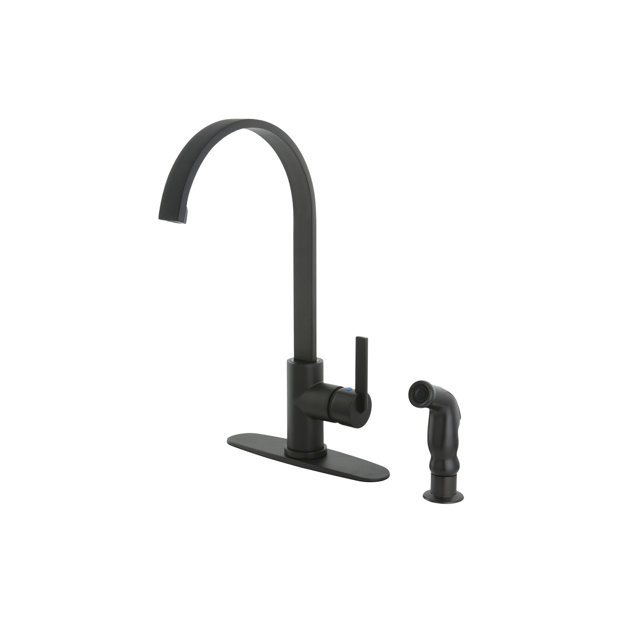 Modern Single Lever Kitchen Faucet Oil Rubbed Bronze Kingston