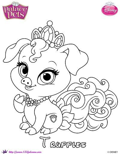Princess Palace Pets Coloring Page Of Truffles Princess Coloring