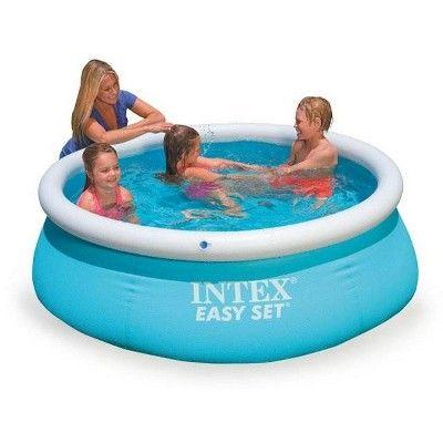 Intex 6ft x 20in Easy Set Inflatable Swimming Pool Aqua