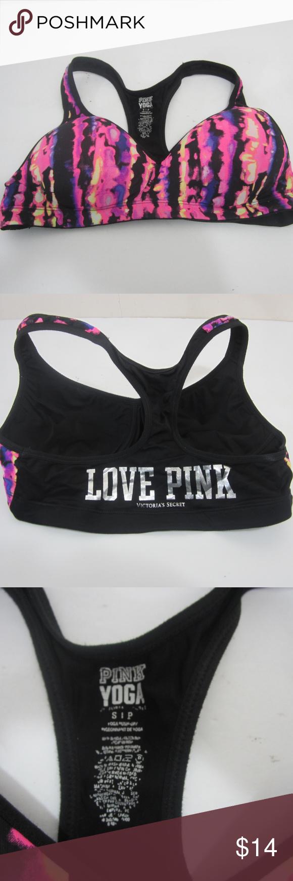 d68a627578520 PINK Victoria s Secret Sports Bra Womens S PINK Victoria s Secret Yoga  Fitness Athletic Sports Bra Women s