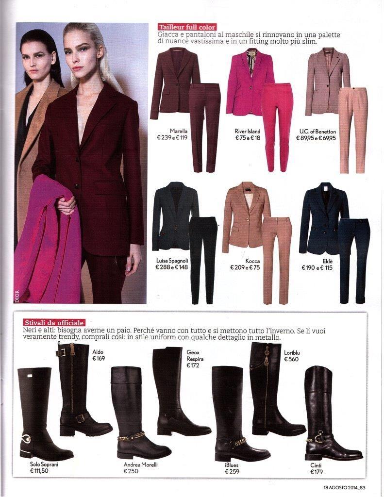"""Giacca e pantalone Ekle' selezionati su TU STYLE per il servizio """"Tailleur Full Color"""" #eklestyle www.ekle.it"""