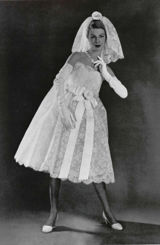 1958 Yves Saint Lau For Dior Wedding Dress