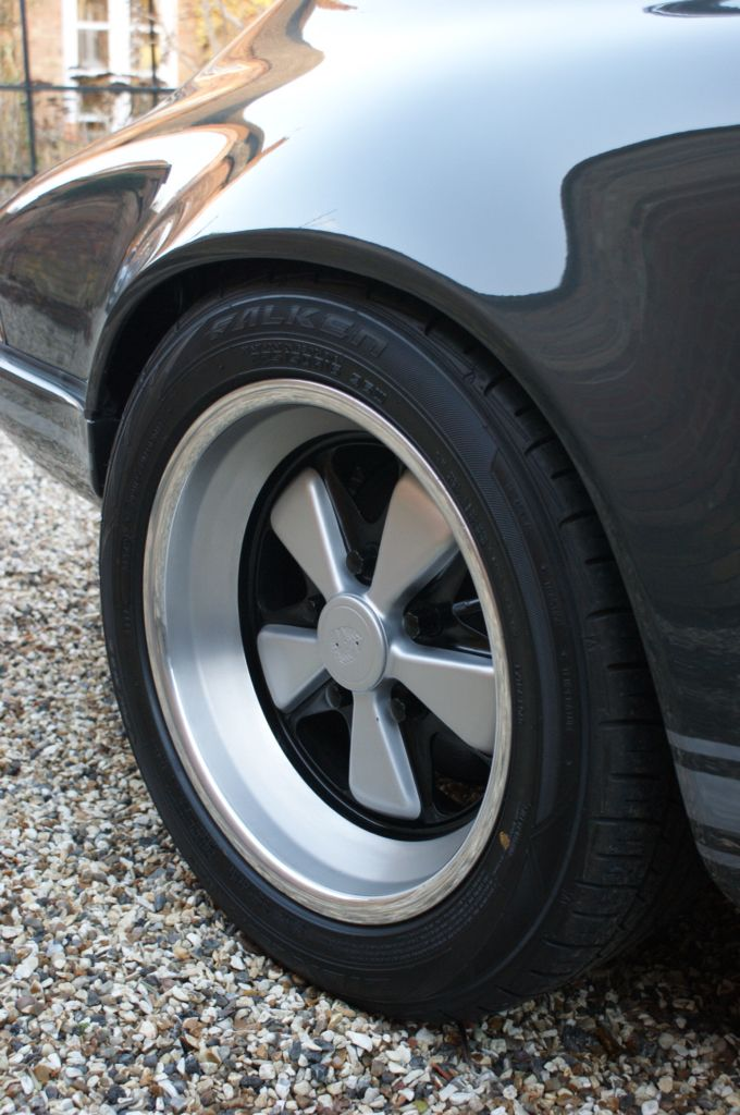 Rear 8 x 16 original Fuch wheels with polished edges