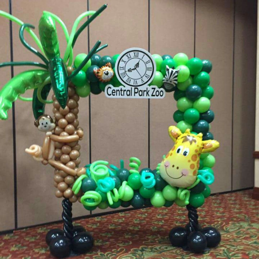 Pin by beautified creations on balloon decorations pinterest birthdays jungle theme and babies - Monkey balloons for baby shower ...