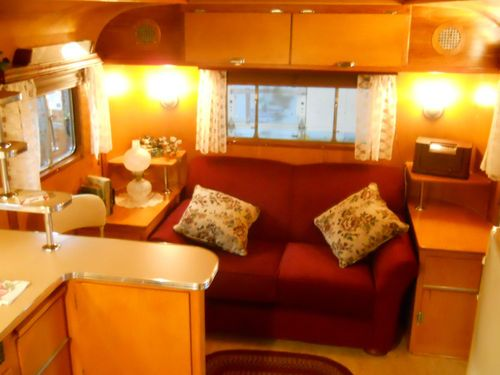 1949 Westcraft 3 Window Restored Vintage Travel Trailer Aluminum Birch Interior Vintage Camper Interior Vintage Travel Trailers Travel Trailer Interior