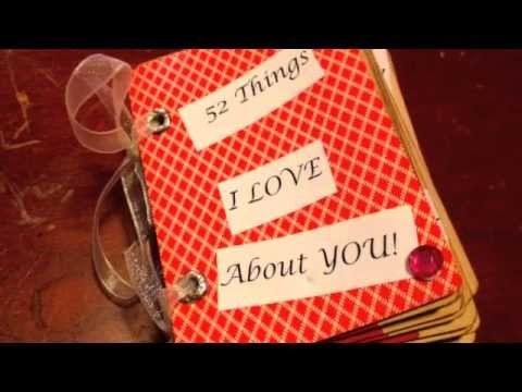 a 52 thing i love about you mini book perfect the special person, Ideas