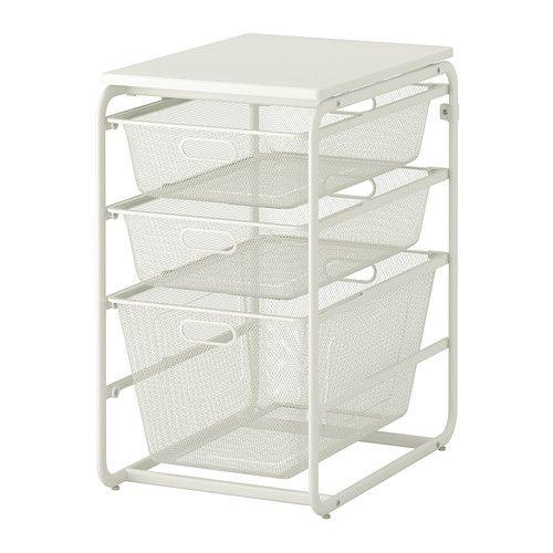 ALGOT Frame with 3 mesh baskets/top shelf - IKEA Lego storage ...