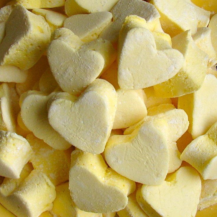 LEMON Mini Gourmet Marshmallows Hearts - 36 Count - Birthday Holiday Mitzvah Wedding Party Favor. $12.95, via Etsy.