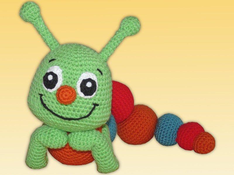 Amigurumi Theo Die Raupe Amigurumi Gehäkelt Crochet Häkeln