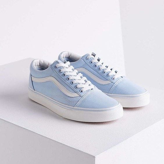 Sneakers Women Vans Old Skool Light Blue Shoes