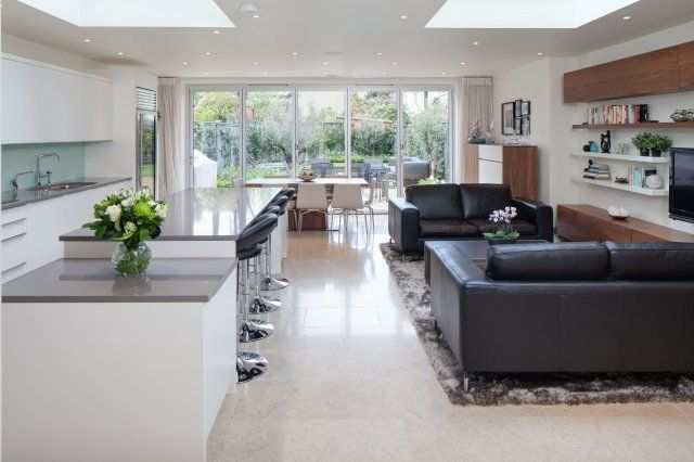 Beautiful Kitchen Set Within An Open Plan Space In A London Home