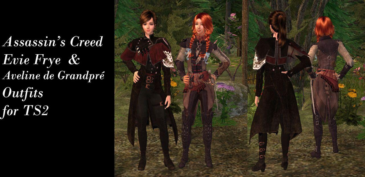 TS2 Evie Frye & Aveline Du Grandpe Outfit From Assassin's