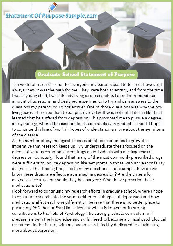 The Best Statement of Purpose Graduate School Sample | The Best ...