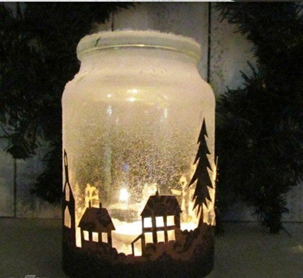 Weihnachtsgeschenke selber machen - Bastelideen für Weihnachten #weihnachtsdekoglas