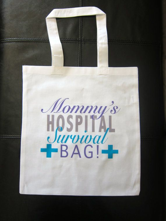 3c0a3099f3 HOSPITAL SURVIVAL BAG tote for a new mommy by GlitterGirlsShopLLC Hospital Survival  Kits