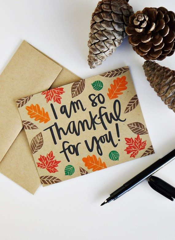 Card i am so thankful for you handlettered handlettering card i am so thankful for you handlettered handlettering modern calligraphy thanksgiving card charitable donation m4hsunfo