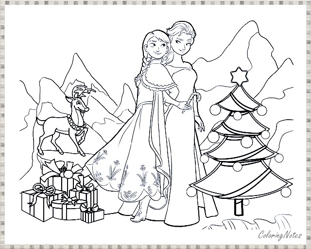 Anna Elsa Christmas Coloring Pages Christmas Coloring Pages Christmas Coloring Sheets Christmas Colors