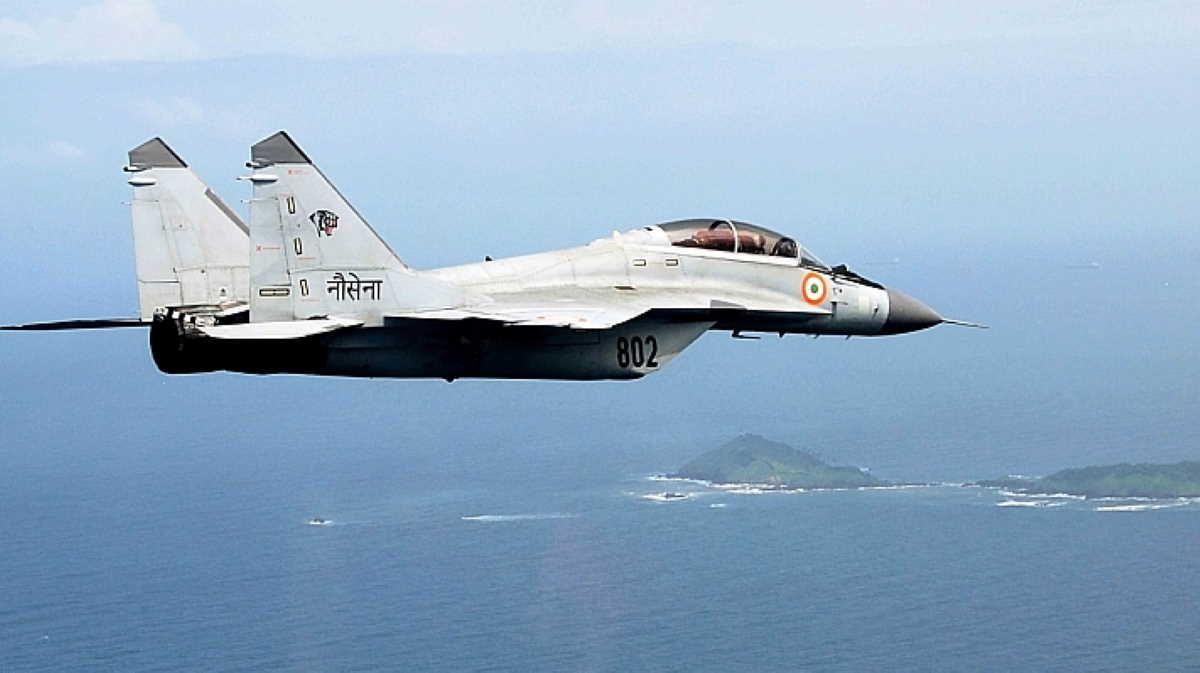 Indian navy mig29k fighter jet crashes near goa in 2020