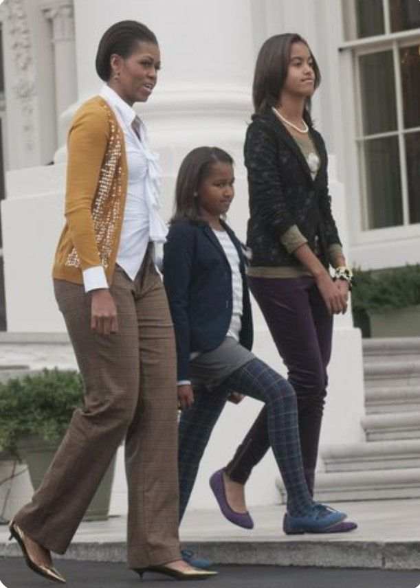 FLOTUS Michelle, Malia and Sasha