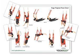 yoga trapeze  setup pose chart  instructions  yoga