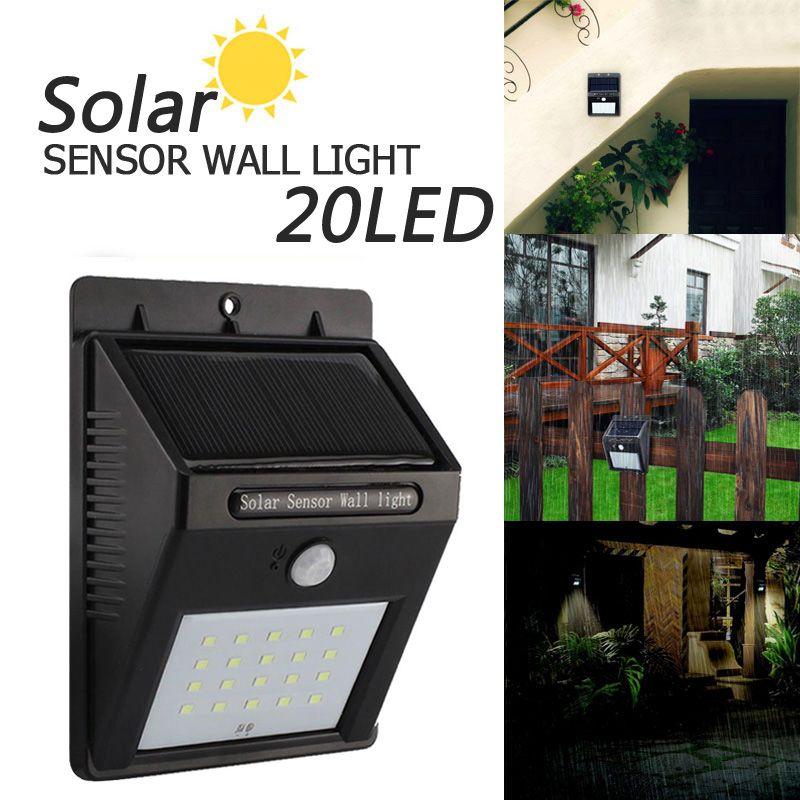 Extérieure étanche LED Solaire Lumi¨re 8 12 20 38 Capteur de