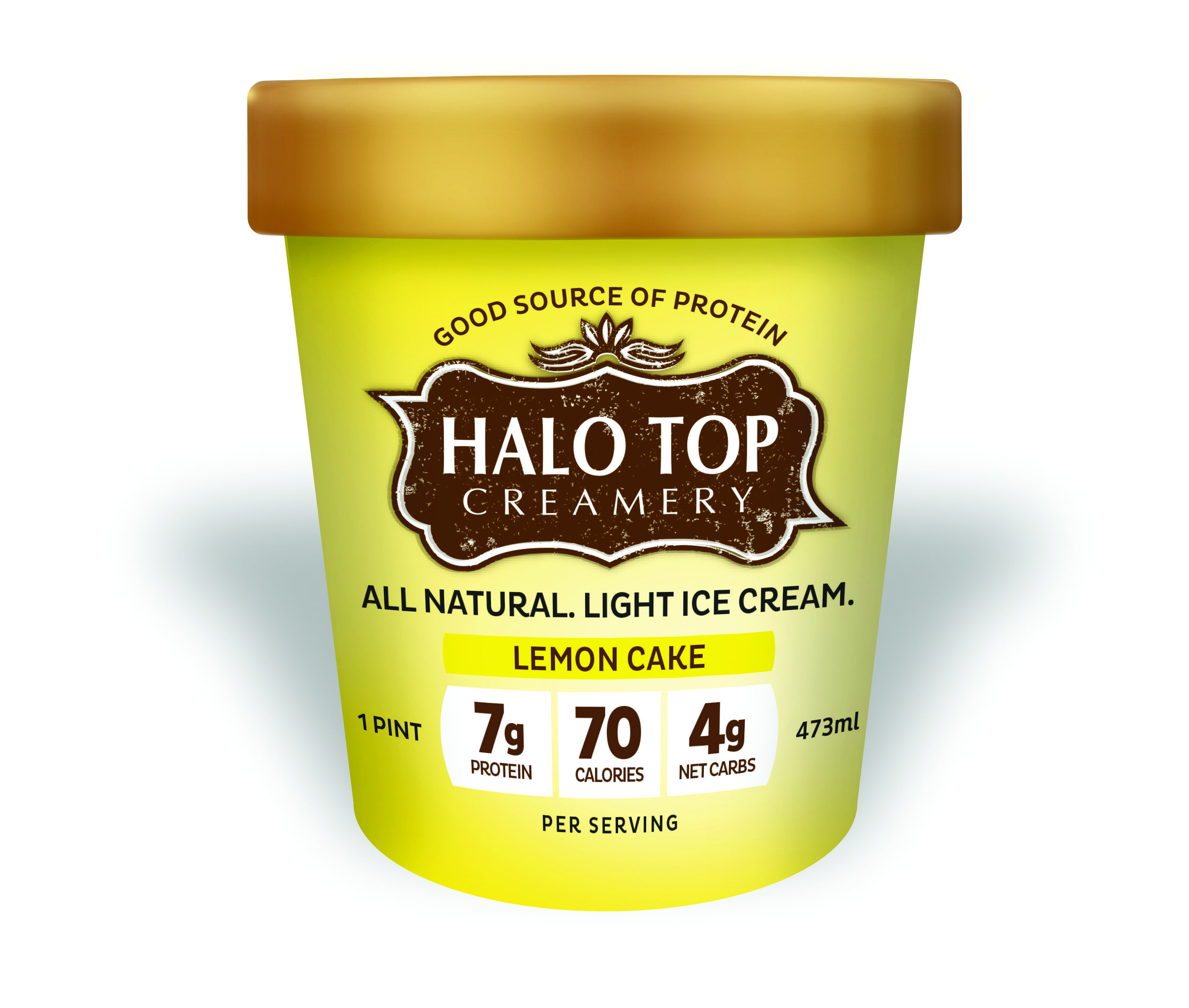 Halo Top Lemon Cake ice cream has the perfect amount of zesty