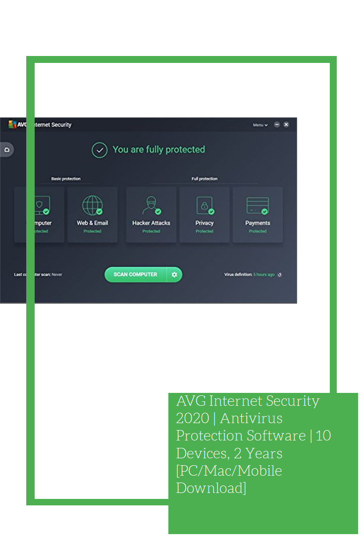 AVG Security 2020 Antivirus Protection Software