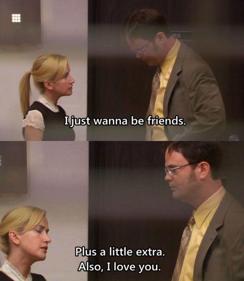 Hahahaha Dwight And Angela Romantic Moments Office Humor