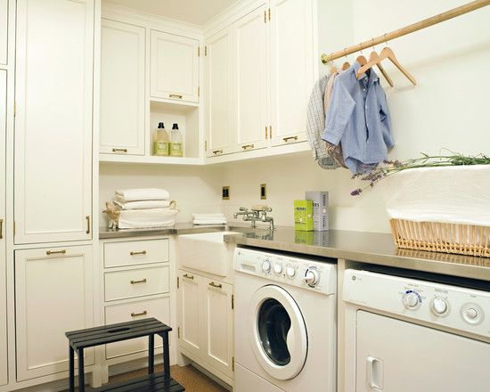 Counter Over Washer Dryer Small Laundry Sink Hanger Rack Above