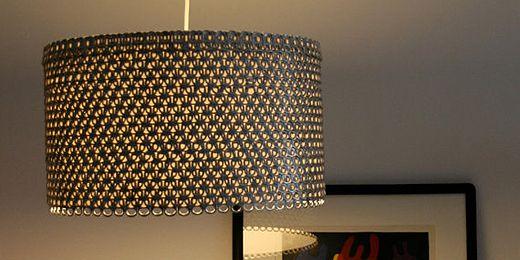 Upcycling Lampe Aus Dosenverschlussen Lampe Upcycling Lampenschirm