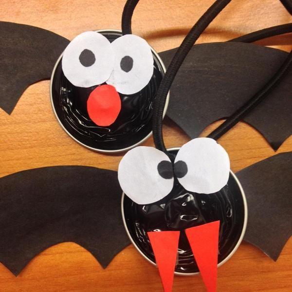 Trabalhos Manuais Para O Halloween Morcegos Com Capsulas De Cafe