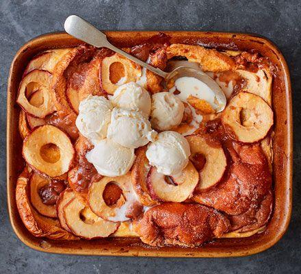 Toffee apple bread & butter pudding #bonfirenightfood